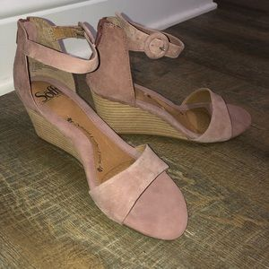 Sofft mauve/nude wedge sandals